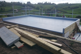 waterproofing pool room deck after