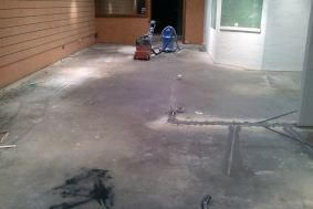 waterproofing floor coat before