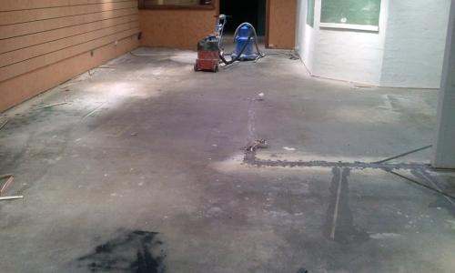 waterproofing floor coat before
